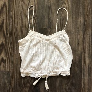 White Summer Crop top - American Eagle